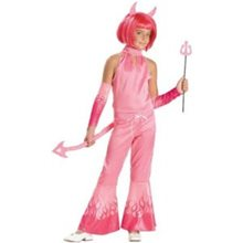 Picture of Deluxe Sassy Devil Pink Child Costume
