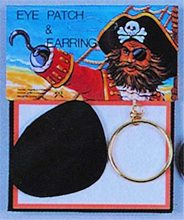 Picture of Pirate Eye Patch and Earring