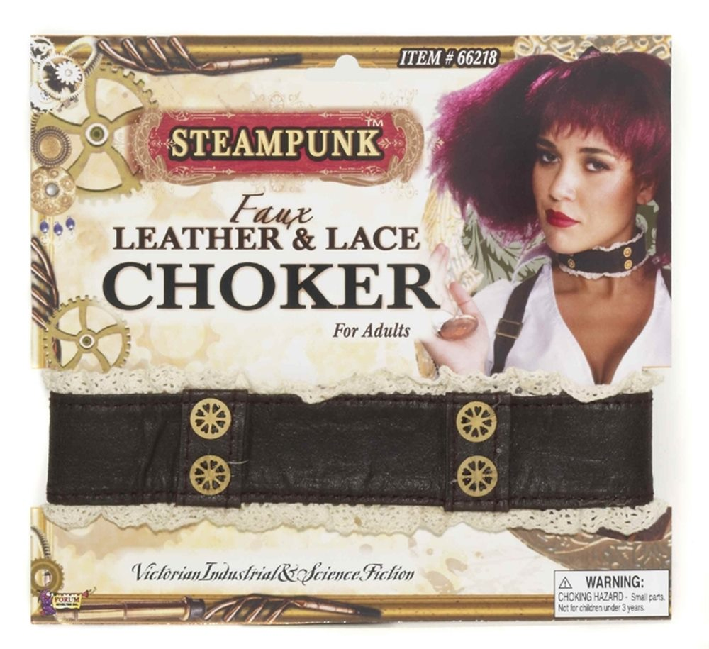 Picture of Steampunk Leather & Lace Choker