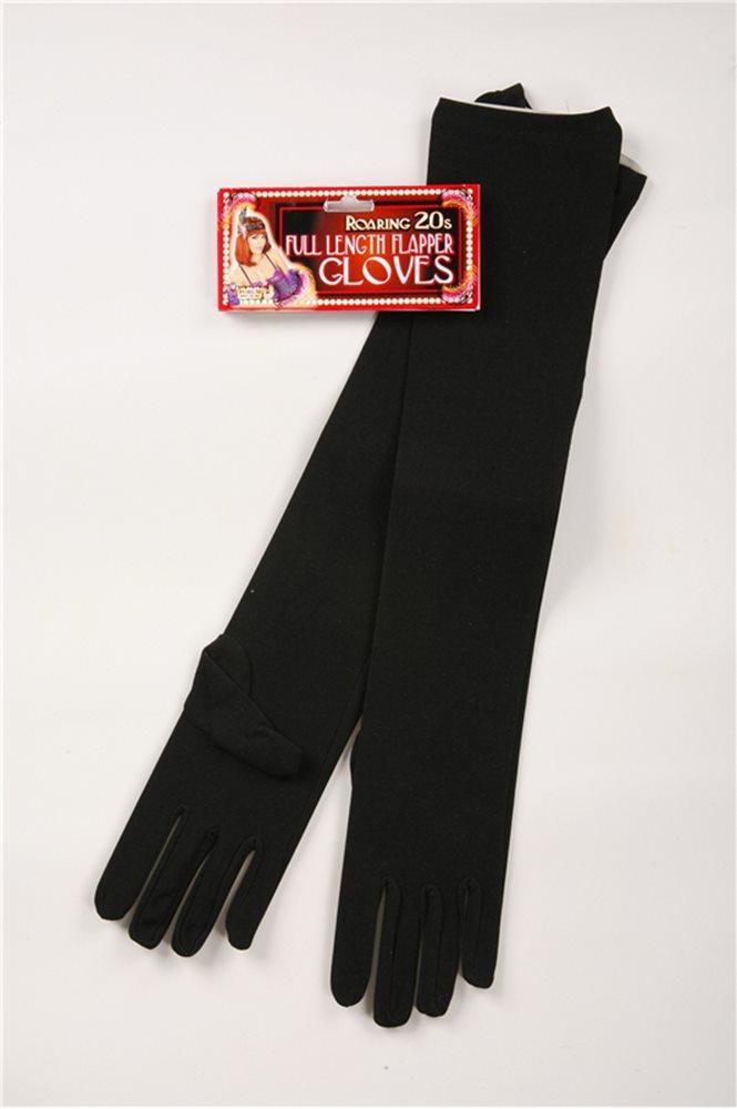 Picture of Long Nylon Black Gloves