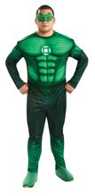 Picture of Green Lantern Muscle Deluxe Plus Size Costume