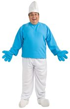 Picture of Smurf Deluxe Plus Size Adult Mens Costume