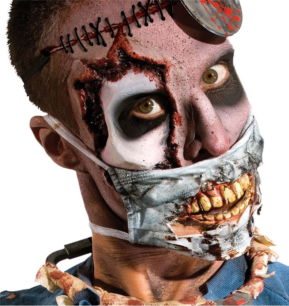 Picture of Zombie Doctor Mask With Teeth