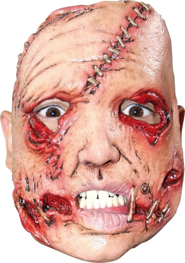 Picture of Serial Killer Stitch Face Adult Half Mask