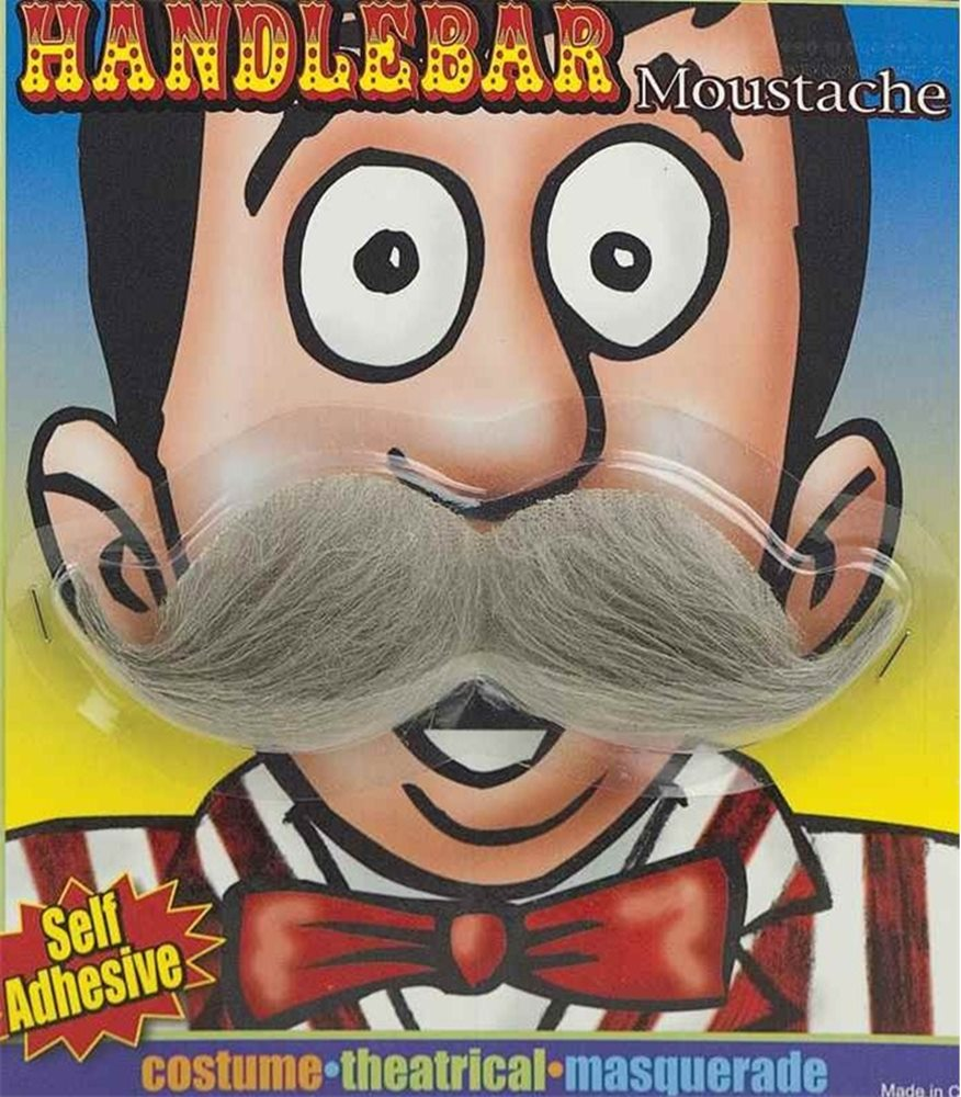 Picture of Handlebar Moustache Grey