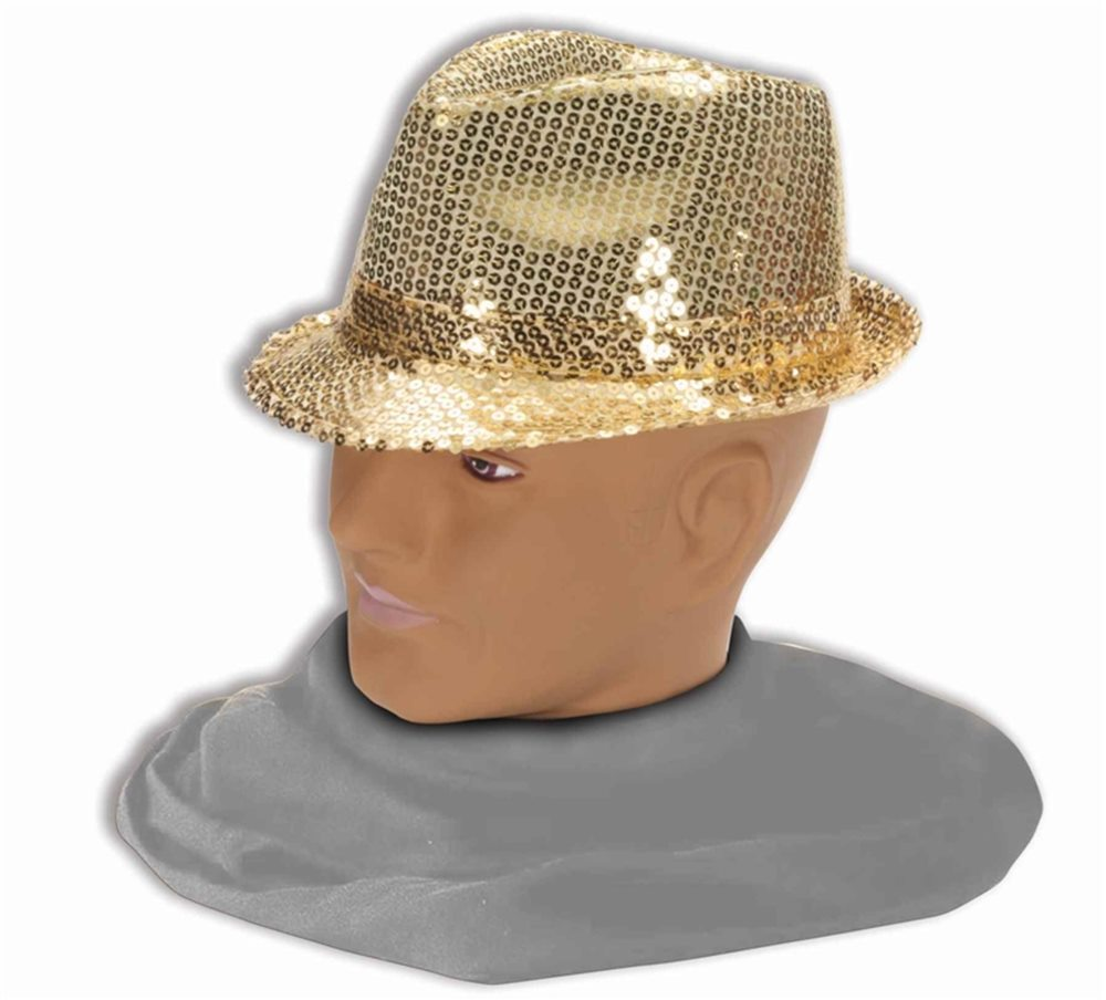 Picture of Gold Sequin Fedora Adult Hat