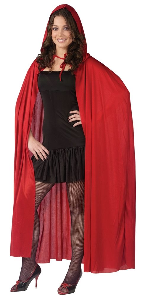 Picture of Red Hooded Adult Cape