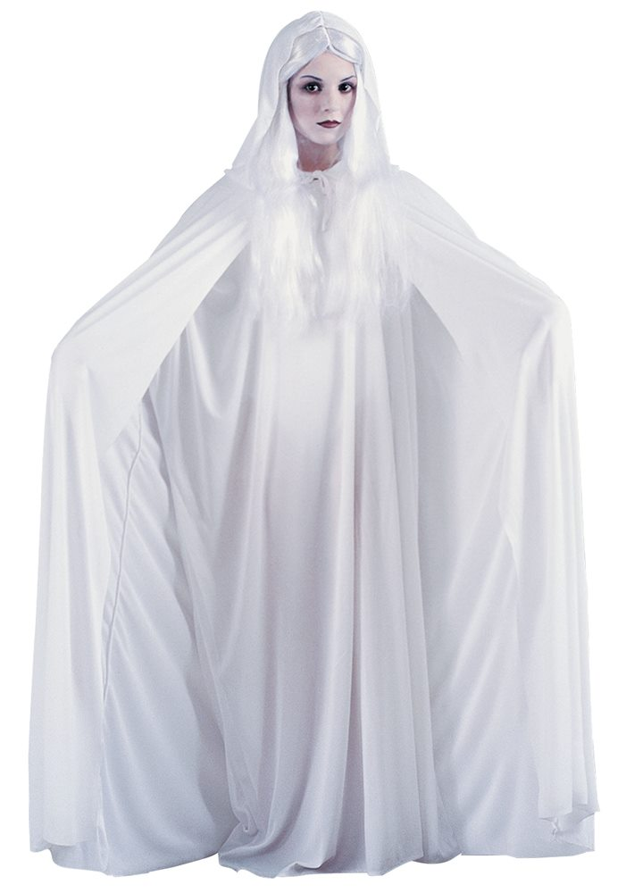 Picture of White Hooded Adult Cape