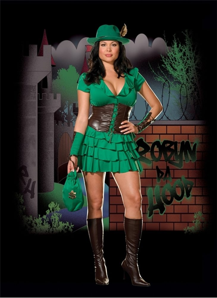 Picture of Robyn Da Hood Plus Size Costume
