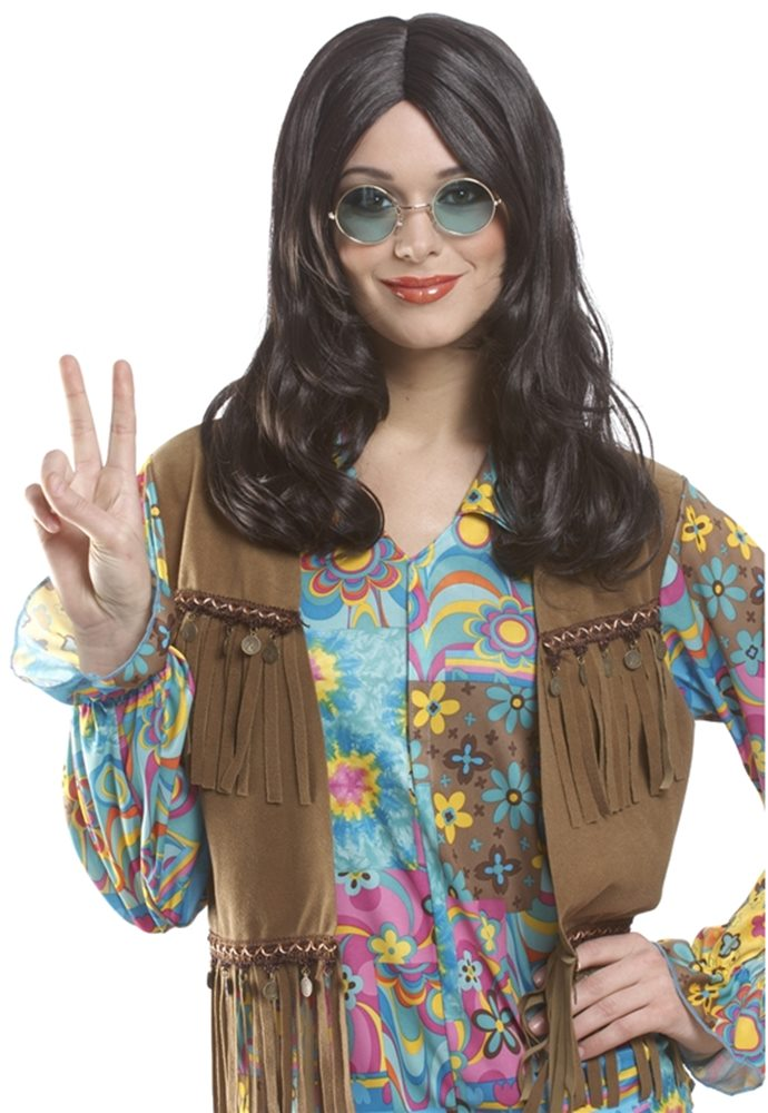 Picture of Brown Unisex Hippie Adult Wig