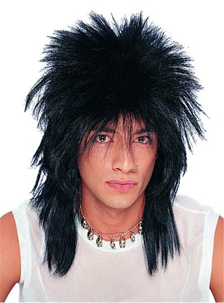 Picture of Black Unisex Rocker Adult Wig