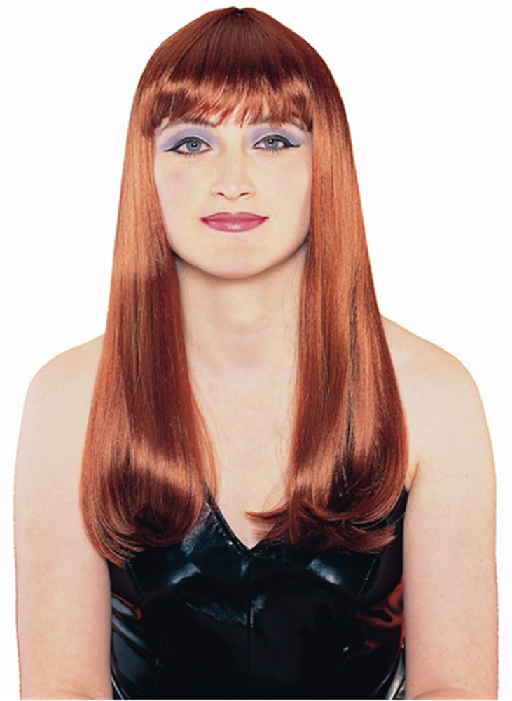 Picture of Red Mademoiselle Adult Wig