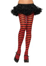Picture of Nylon Striped Tights Adult Womens Accessory