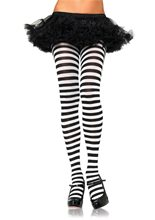 Picture of Black and White Striped Tights