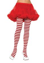 Picture of Red and White Striped Tights