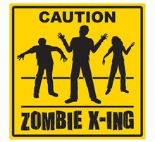 Picture of Caution Zombie Crossing Sign