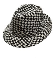 Picture of Houndstooth Black and White Fedora Hat