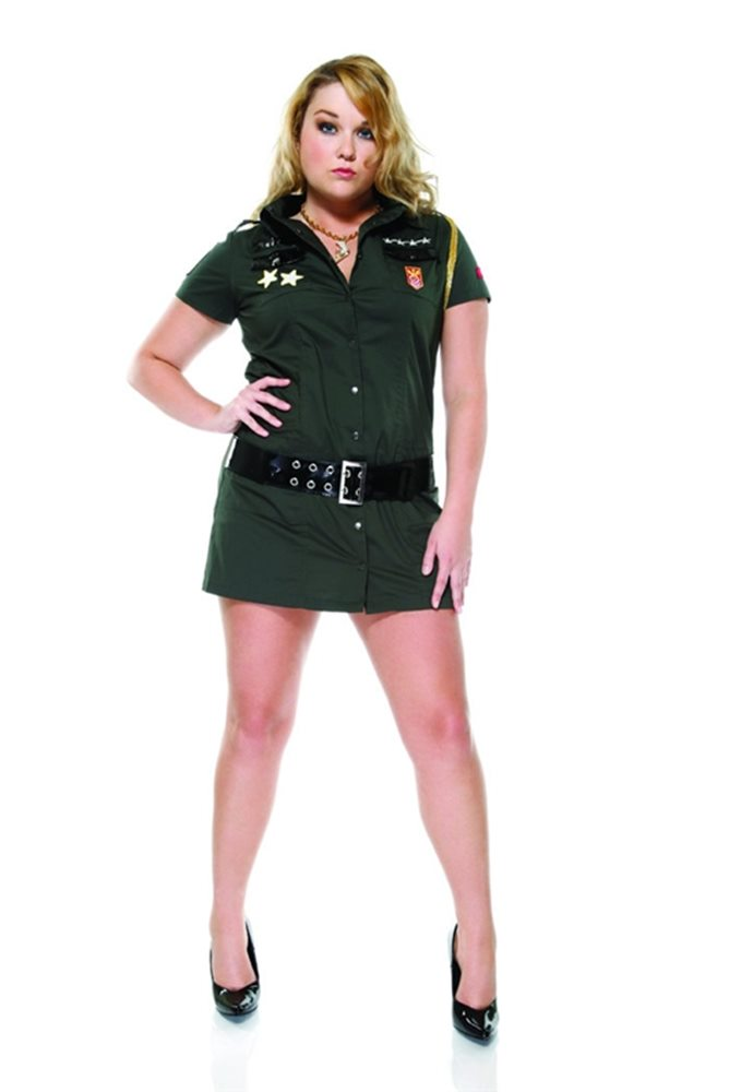 Picture of Army Seductress Plus Size Adult Womens Costume