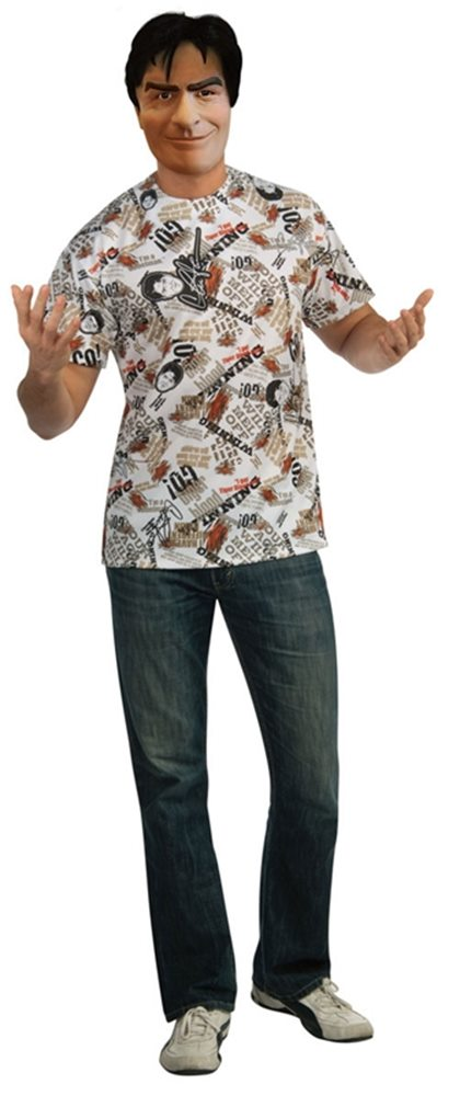 Picture of Charlie Sheen T-Shirt Adult Mens Costume