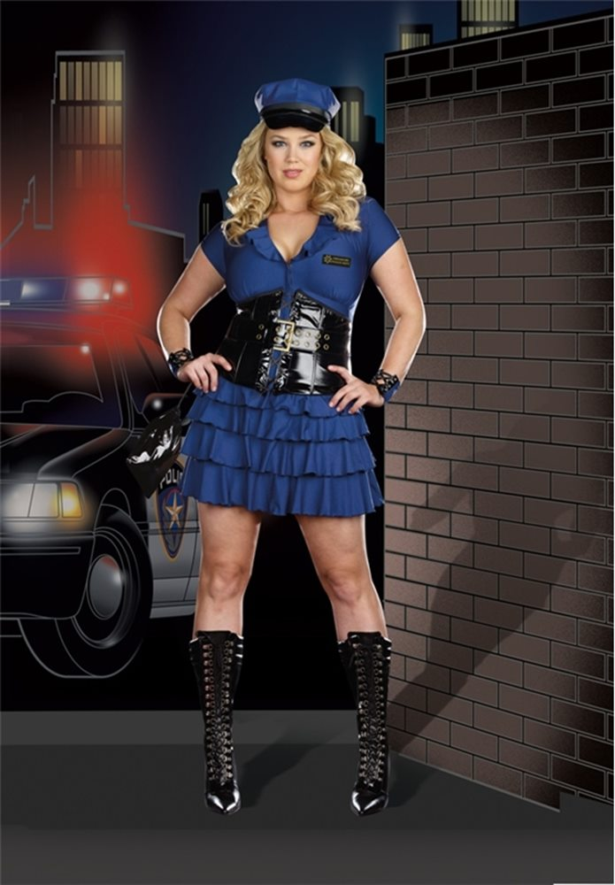 Picture of Late Night Patrol Plus Size Adult Womens Costume
