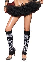 Picture of Silver Zebra Leg Warmers