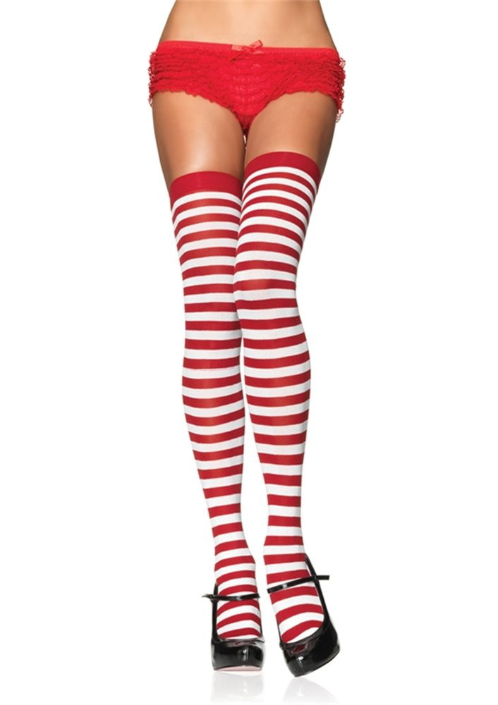 Picture of Nylon Striped Stockings (Assorted Colors)