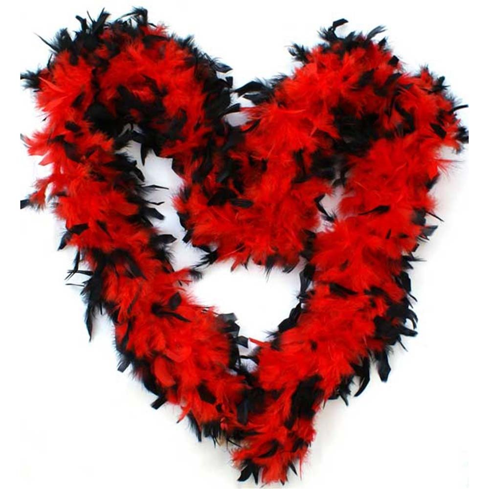 Picture of Red and Black Feather Boa