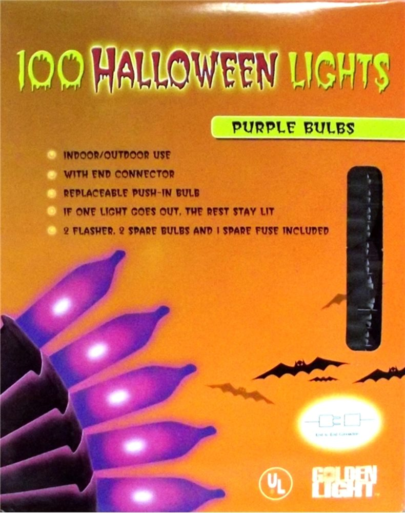 Picture of 100 Purple Halloween Lights