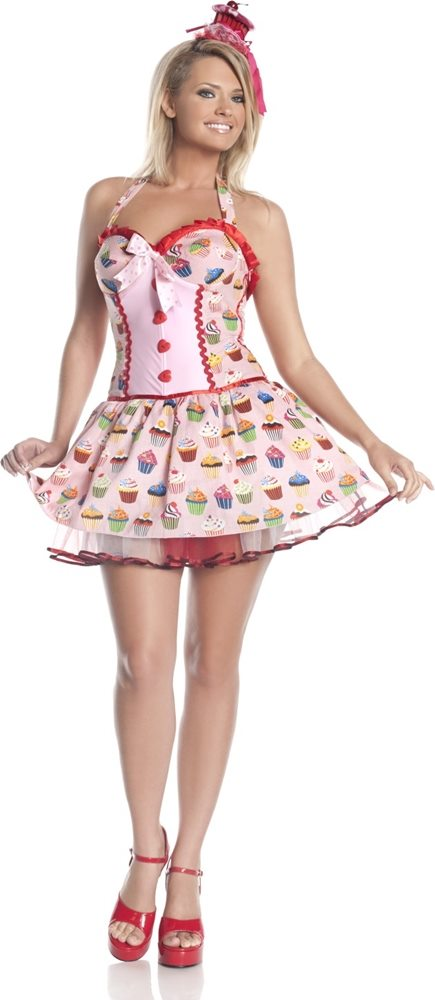 Picture of Cupcake Girl Adult Womens Costume