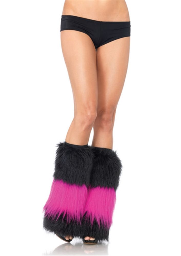 Picture of Black and Fuschia Two Tone Boot Covers