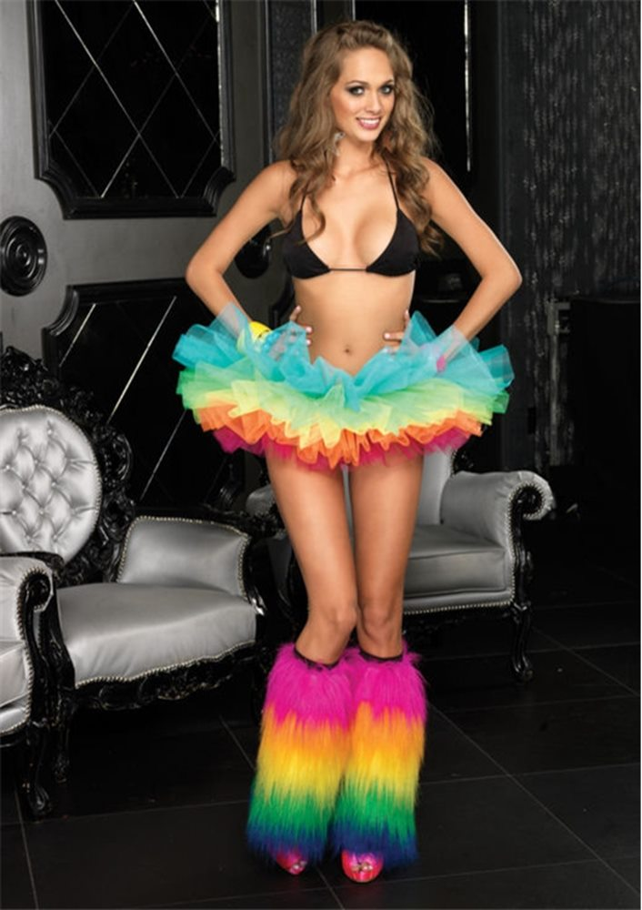 Picture of Rainbow Organza Adult Womens Tutu