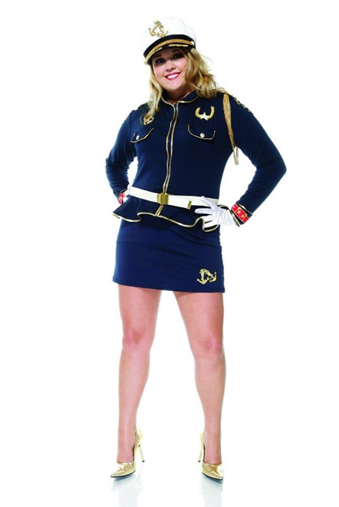 Picture of Cutie Cadet Sailor Plus Size Adult Womens Costume