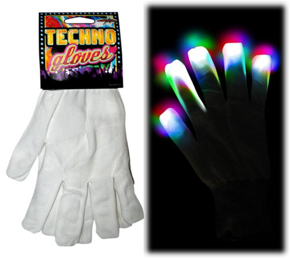 Picture of Magical Mitts White Techno Light Up Gloves