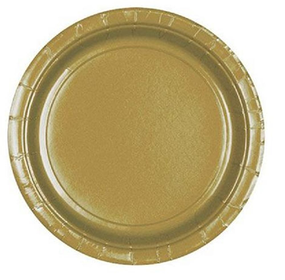 "Picture of 7"" Gold Round Plates"