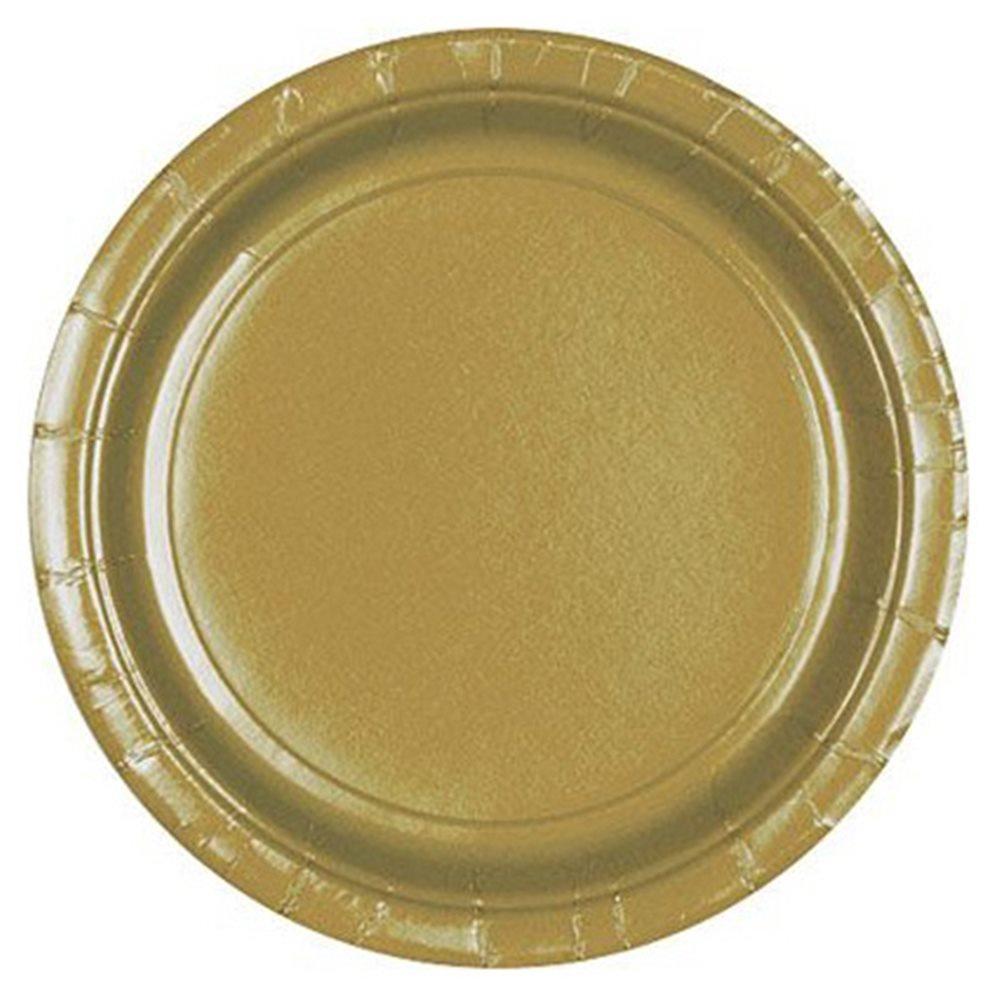 """Picture of 9"""" Gold Round Plates"""