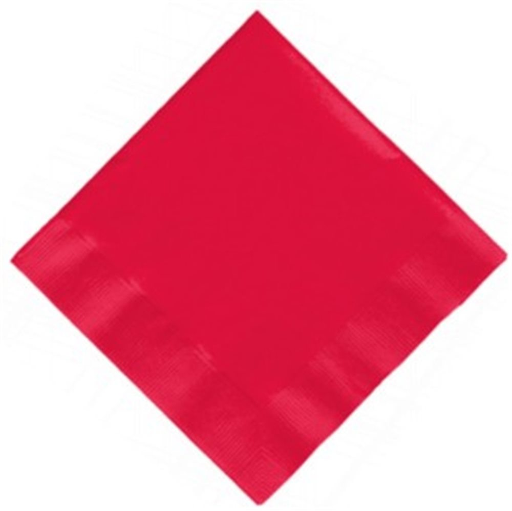 """Picture of 5"""" Red Beverage Napkins"""