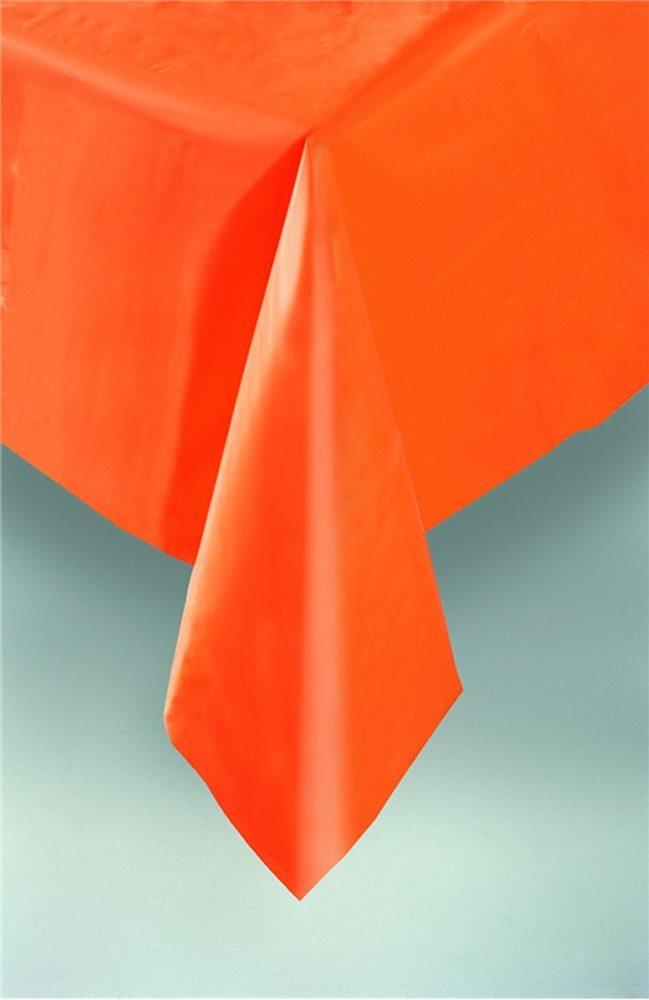 Picture of Pumpkin Orange Plastic Tablecover