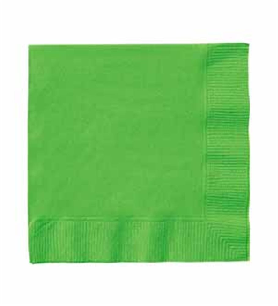 """Picture of 5"""" Lime Green Beverage Napkins"""