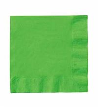 "Picture of 5"" Lime Green Beverage Napkins"