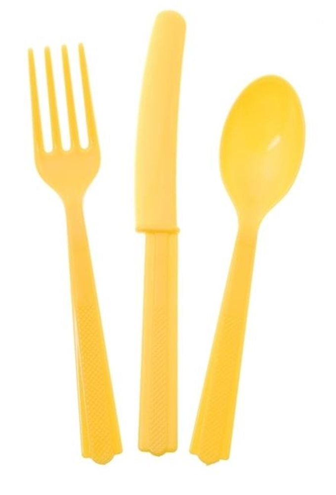 Picture of 24pk Sunflower Yellow Cutlery