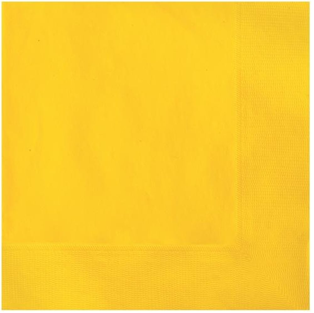 Picture of Sunflower Yellow Lunch Napkins