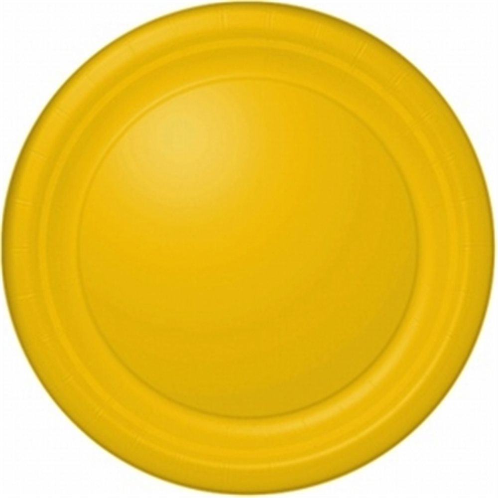 "Picture of 7"" Sunflower Yellow Round Plates"