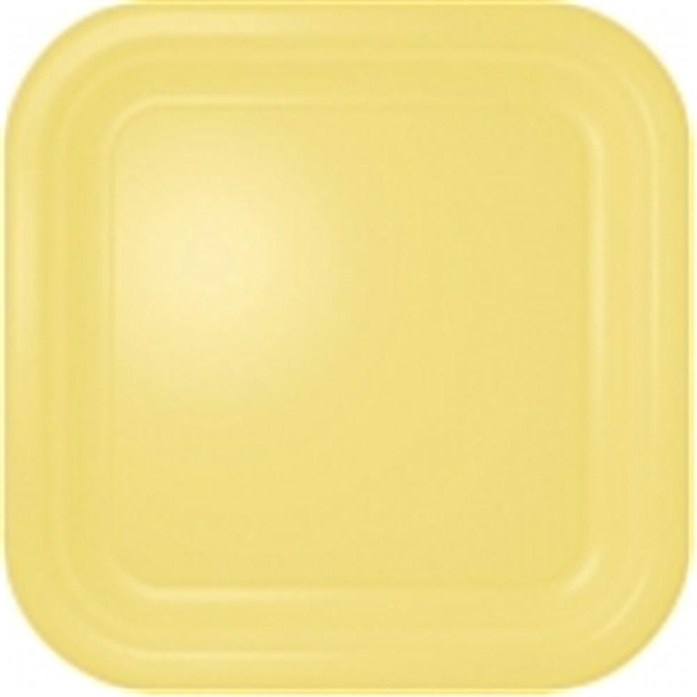"Picture of 7"" Lemon Meringue Pie Square Plates"
