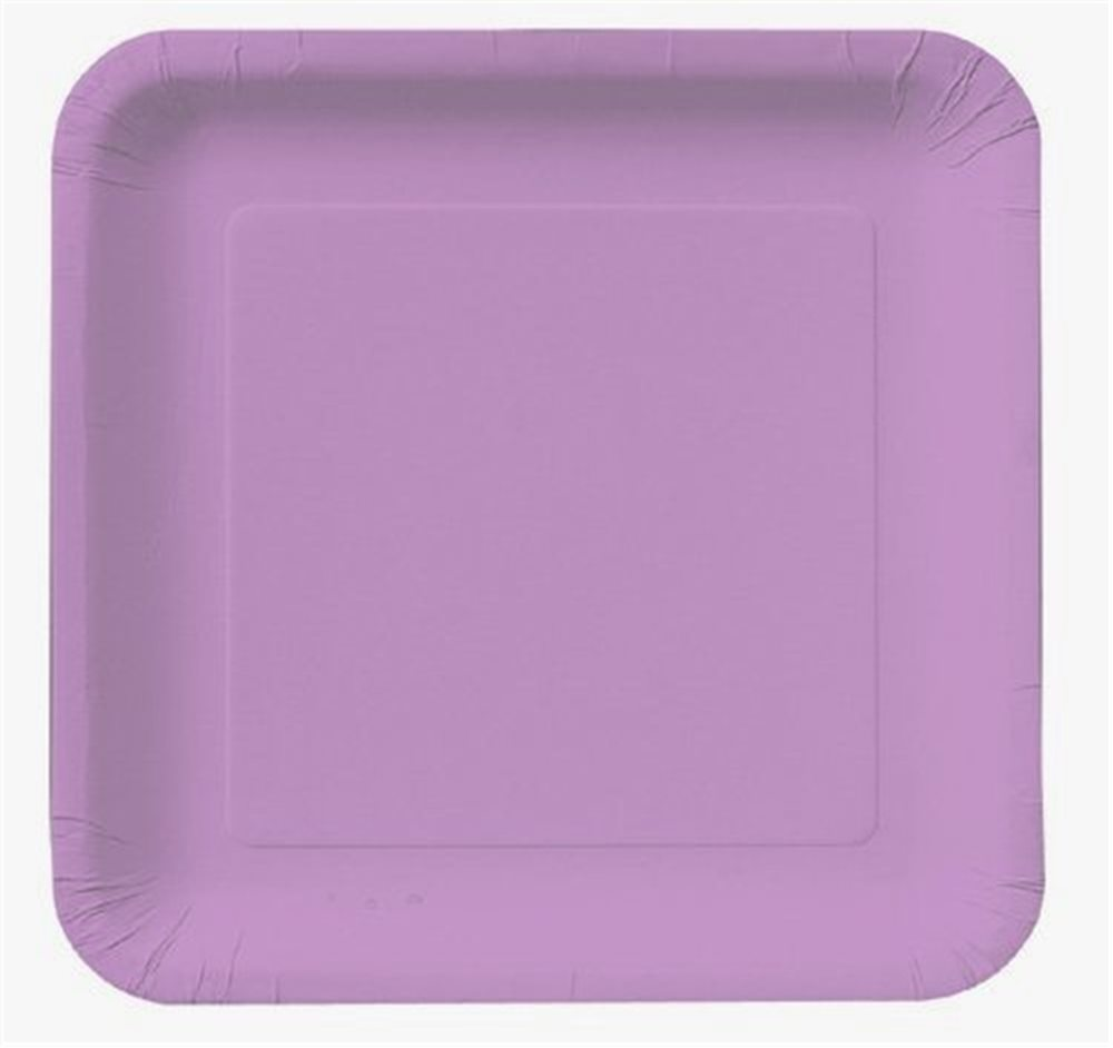 "Picture of 7"" Lavender Square Plates"