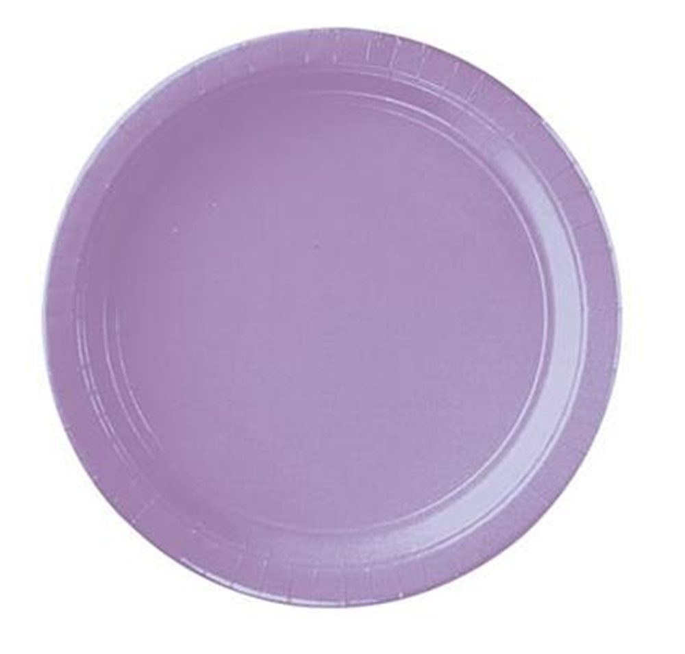 """Picture of 7"""" Lavender Round Plates"""