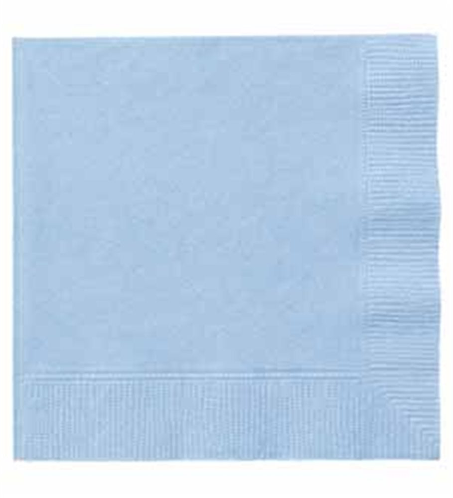 "Picture of 5"" Baby Blue Beverage Napkins"