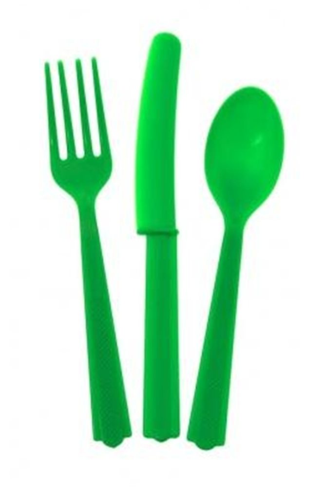 Picture of 24pk Emerald Green Cutlery