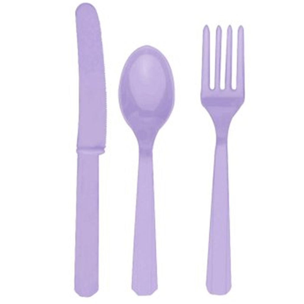 Picture of 24pk Lavender Cutlery