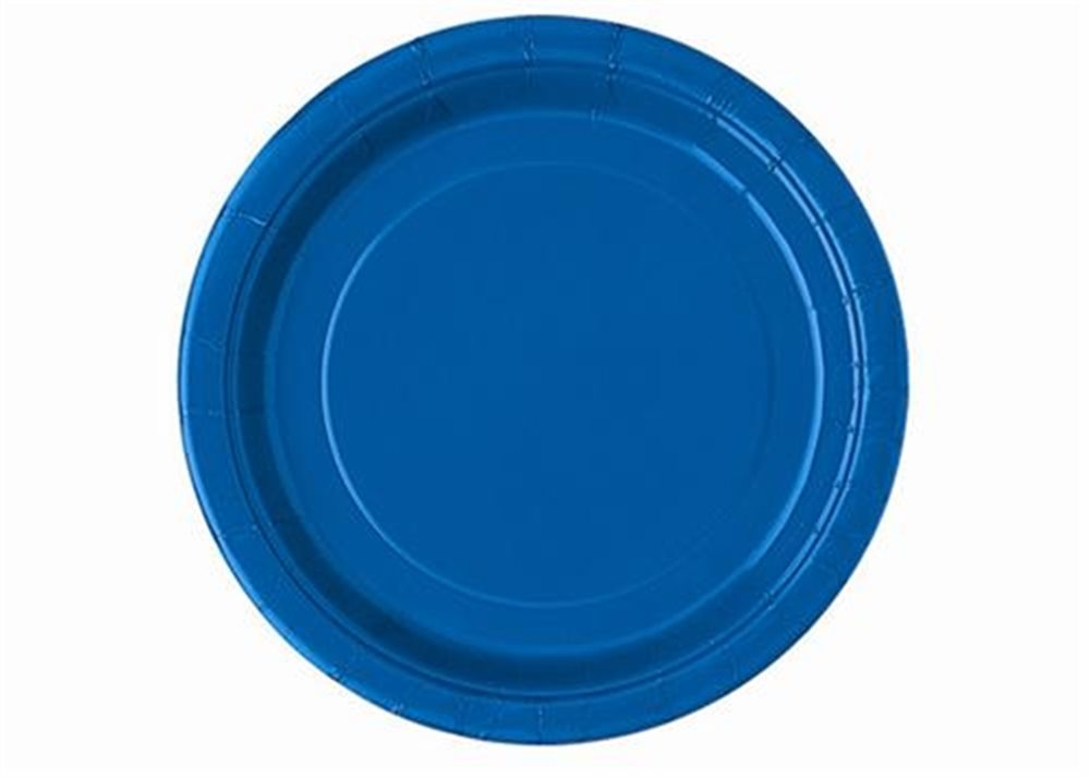 """Picture of 7"""" Royal Blue Round Plates"""