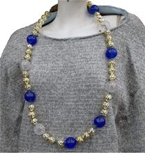 Picture of Blue and White Lighted Bead Necklace